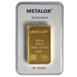 Lingotin 100 g Metalor