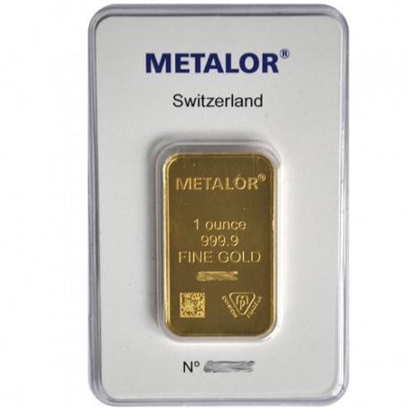 Lingotin 1 OZ Metalor