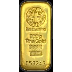 Lingotin 500 g Argor-Heraeus