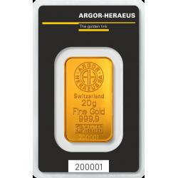 Lingotin 20 g Argor-Heraeus