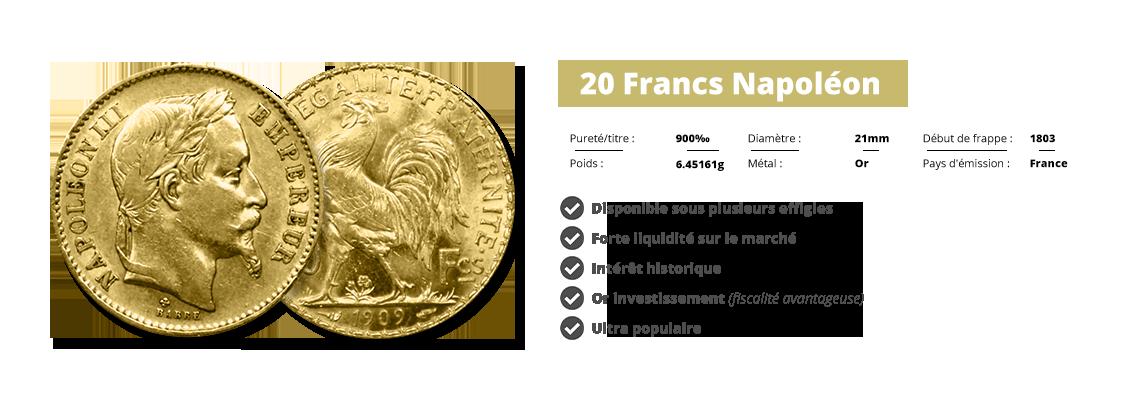 20 Francs Napoléon Change Vivienne