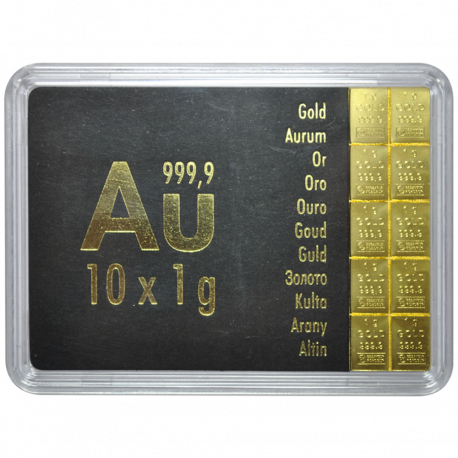 Lingotin 10 g Or Combibar