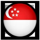Drapeau Dollar Singapour SGD
